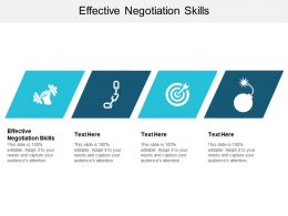 Effective Negotiation Skills Ppt Powerpoint Presentation Model Mockup Cpb