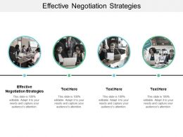 Effective Negotiation Strategies Ppt Powerpoint Presentation Slides Grid Cpb