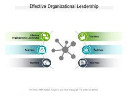 Effective Organizational Leadership Ppt Powerpoint Presentation Layouts Outline Cpb