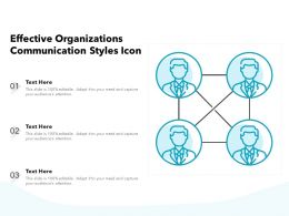 Effective Organizations Communication Styles Icon