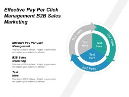 Effective Pay Per Click Management B2b Sales Marketing Cpb