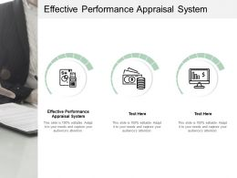 Effective Performance Appraisal System Ppt Powerpoint Presentation Infographics Clipart Cpb