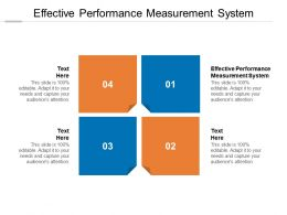 Effective Performance Measurement System Ppt Powerpoint Presentation Guide Cpb