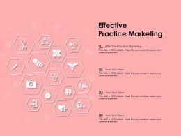 Effective Practice Marketing Ppt Powerpoint Presentation Summary Template