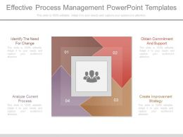 Effective Process Management Powerpoint Templates