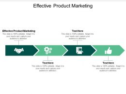 Effective Product Marketing Ppt Powerpoint Presentation Professional Templates Cpb