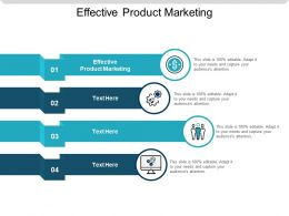 Effective Product Marketing Ppt Powerpoint Presentation Slides Maker Cpb