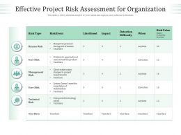 Effective Project Risk Assessment For Organization