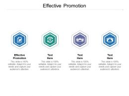 Effective Promotion Ppt Powerpoint Presentation Layouts Designs Download Cpb