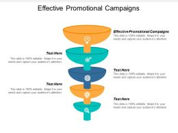 Effective Promotional Campaigns Ppt Powerpoint Presentation Icon Professional Cpb