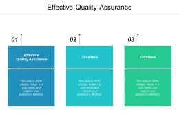 Effective Quality Assurance Ppt Powerpoint Presentation Icon Design Templates Cpb