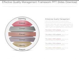 Effective Quality Management Framework Ppt Slides Download