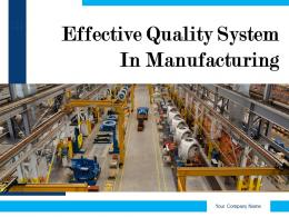 Effective Quality System In Manufacturing Powerpoint Presentation Slides