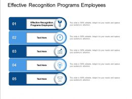 Effective Recognition Programs Employees Ppt Powerpoint Presentation Pictures Tips Cpb