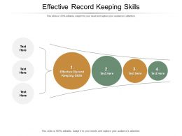 Effective Record Keeping Skills Ppt Powerpoint Presentation Professional Elements Cpb