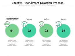 Effective Recruitment Selection Process Ppt Powerpoint Presentation Pictures Portrait Cpb