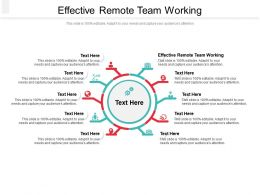 Effective Remote Team Working Ppt Powerpoint Presentation Pictures Slide Cpb