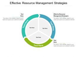 Effective Resource Management Strategies Ppt Powerpoint Presentation Ideas Background Cpb