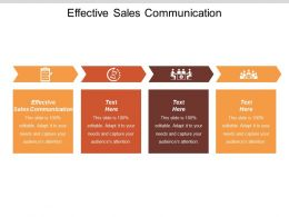 Effective Sales Communication Ppt Powerpoint Presentation Visual Aids Inspiration Cpb