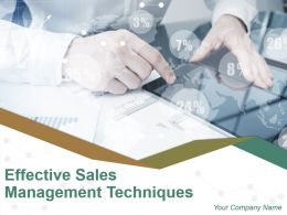 Effective Sales Management Techniques Powerpoint Presentation Slides