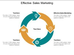 Effective Sales Marketing Ppt Powerpoint Presentation Gallery Ideas Cpb