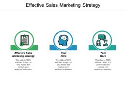 Effective Sales Marketing Strategy Ppt Powerpoint Presentation Gallery Picture Cpb