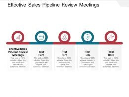 Effective Sales Pipeline Review Meetings Ppt Powerpoint Presentation Infographics Layout Cpb