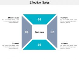 Effective Sales Ppt Powerpoint Presentation Gallery Graphics Download Cpb