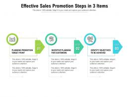 Effective Sales Promotion Steps In 3 Items