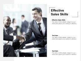 Effective Sales Skills Ppt Powerpoint Presentation Model Backgrounds Cpb