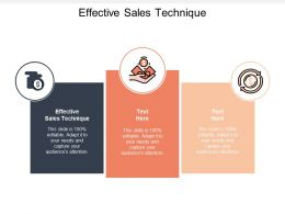 Effective Sales Technique Ppt Powerpoint Presentation File Grid Cpb