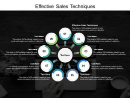Effective Sales Techniques Ppt Powerpoint Presentation Layouts Sample Cpb