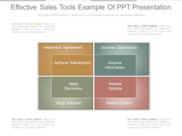 Effective Sales Tools Example Of Ppt Presentation