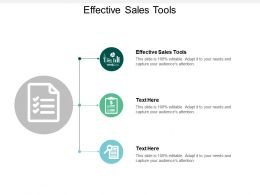 Effective Sales Tools Ppt Powerpoint Presentation File Gridlines Cpb
