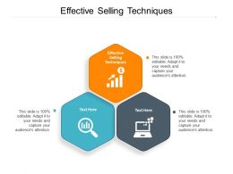 Effective Selling Techniques Ppt Powerpoint Presentation Model Backgrounds Cpb