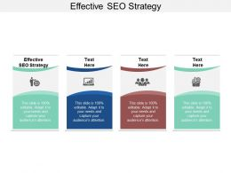 Effective SEO Strategy Ppt Powerpoint Presentation Styles Clipart Images Cpb