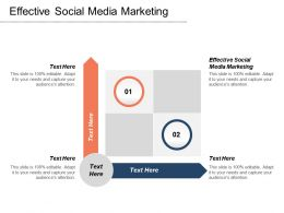 Effective Social Media Marketing Ppt Powerpoint Presentation Icon Graphics Download Cpb