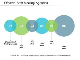 Effective Staff Meeting Agendas Ppt Powerpoint Presentation Ideas Graphic Images Cpb