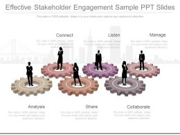 Effective Stakeholder Engagement Sample Ppt Slides