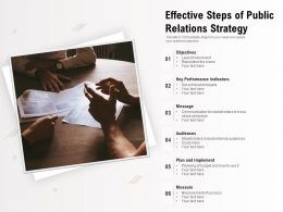 Effective Steps Of Public Relations Strategy