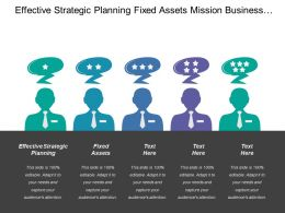Effective Strategic Planning Fixed Assets Mission Business Critical
