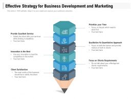 Effective Strategy For Business Development And Marketing