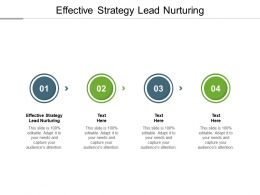 Effective Strategy Lead Nurturing Ppt Powerpoint Presentation Styles Deck Cpb