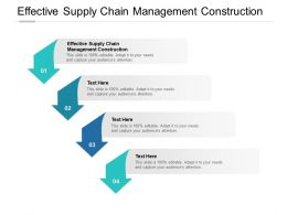 Effective Supply Chain Management Construction Ppt Powerpoint Slides Cpb