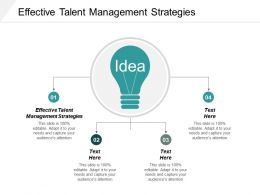 Effective Talent Management Strategies Ppt Powerpoint Presentation Infographics Format Ideas Cpb