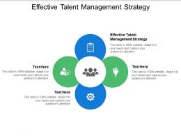 Effective Talent Management Strategy Ppt Powerpoint Presentation Inspiration Influencers Cpb