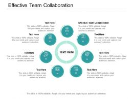 Effective Team Collaboration Ppt Powerpoint Presentation Ideas Layout Cpb