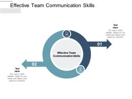 Effective Team Communication Skills Ppt Powerpoint Styles Guide Cpb