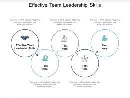 Effective Team Leadership Skills Ppt Powerpoint Presentation Show Grid Cpb