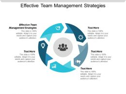 Effective Team Management Strategies Ppt Powerpoint Presentation File Clipart Cpb